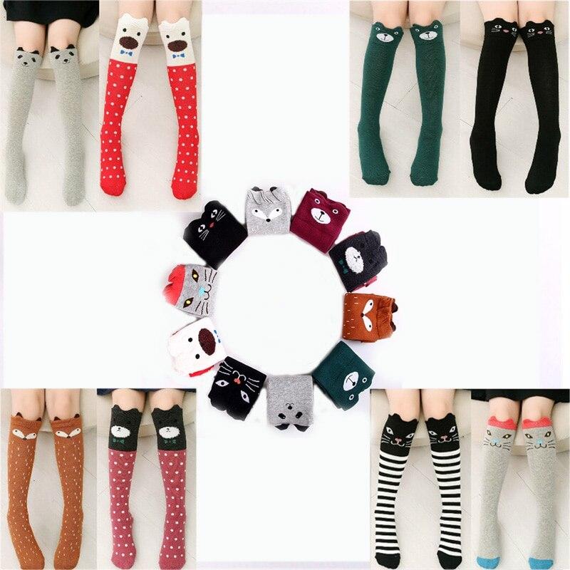 Calcetines de algodón con dibujos animados para niños, calcetín de zorro con...