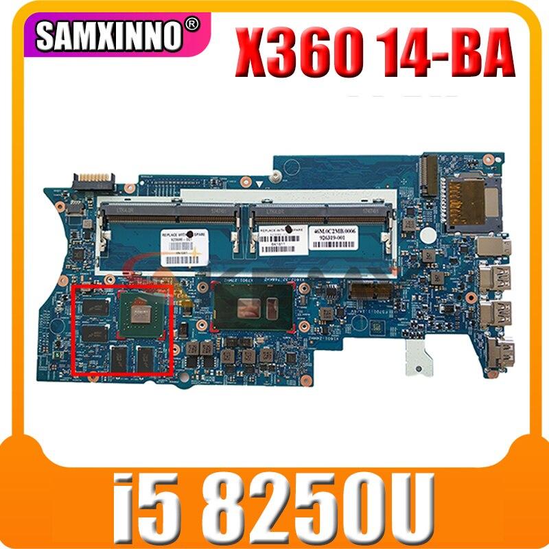 17817-1 448.0BZ09.0011 ل HP جناح X360 14-BA سلسلة اللوحة المحمول L12079-601 939381-601 وحدة المعالجة المركزية i5 8250U 100% اختبار العمل