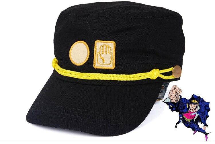 La extraña aventura de Jojo Kujo Jotaro, gorra plana de Anime, sombrero de Cosplay de dibujos animados, regalos de Juguetes