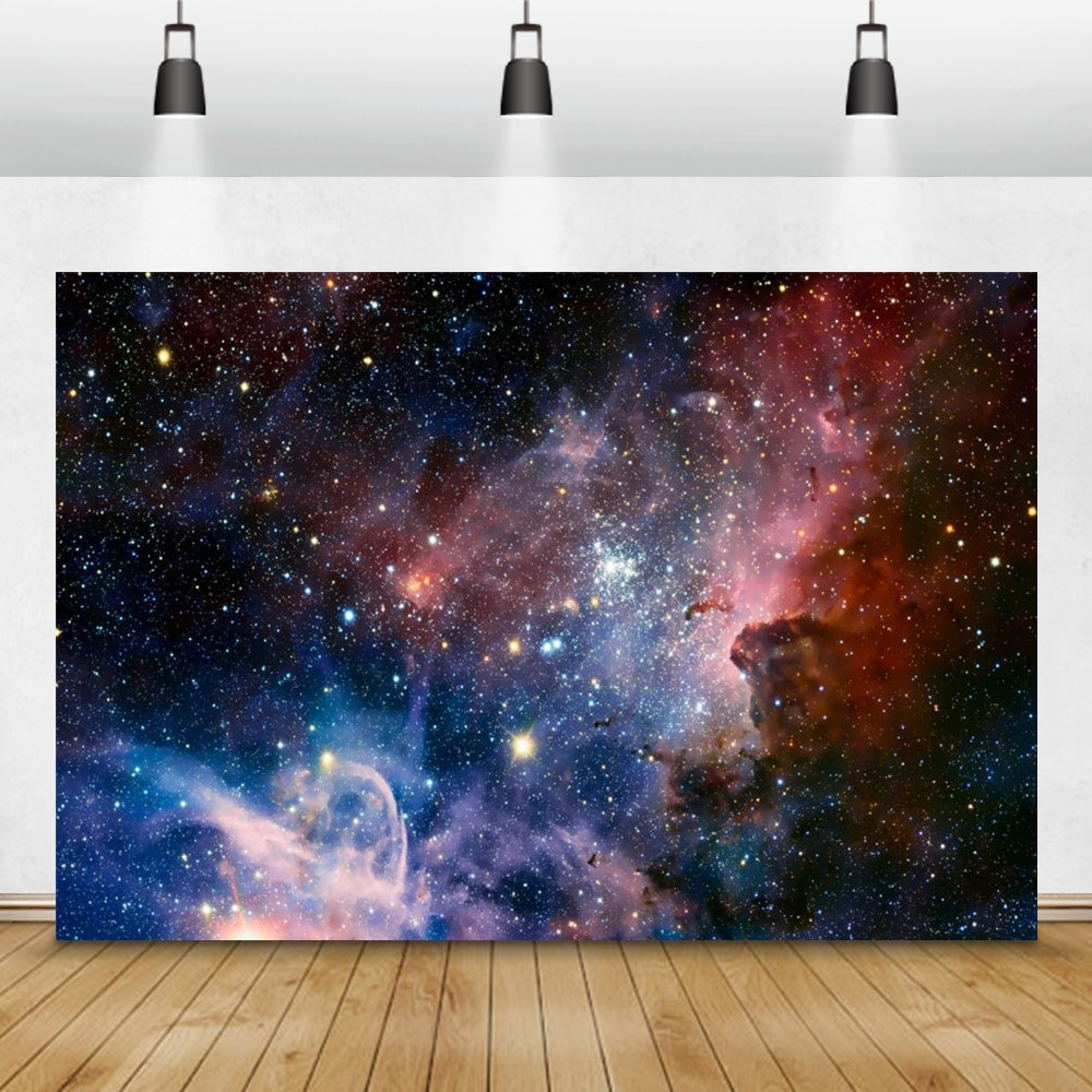 Fairytale Starry Space Universe Baby Birthday Science Fiction Photography Background Backdrop Props For Photo Studio