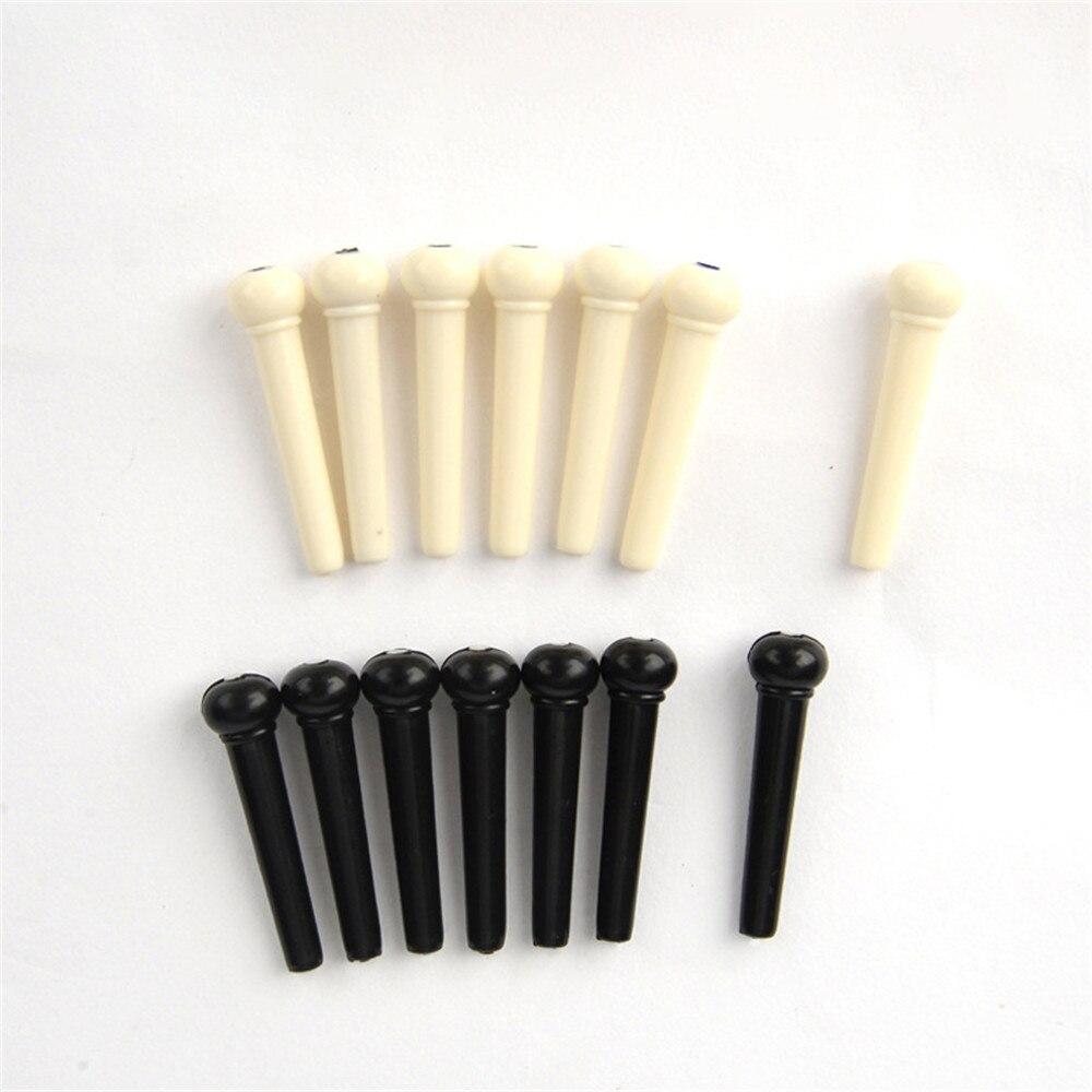 Portátil 6 Pçs/set Acoustic Guitar Ponte Pinos Saddle Nut Pin Musical Instrumentos De Cordas Ponte Partes de Guitarra Acessórios Para Guitarra