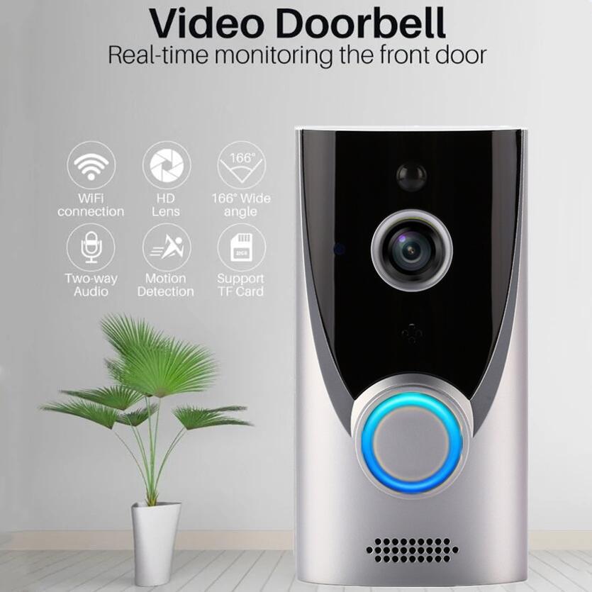 Intercom Doorbell HD 1080P Low Power Remote Monitoring Security Ubox Night Vision Wireless WiFi Visual Doorbell enlarge