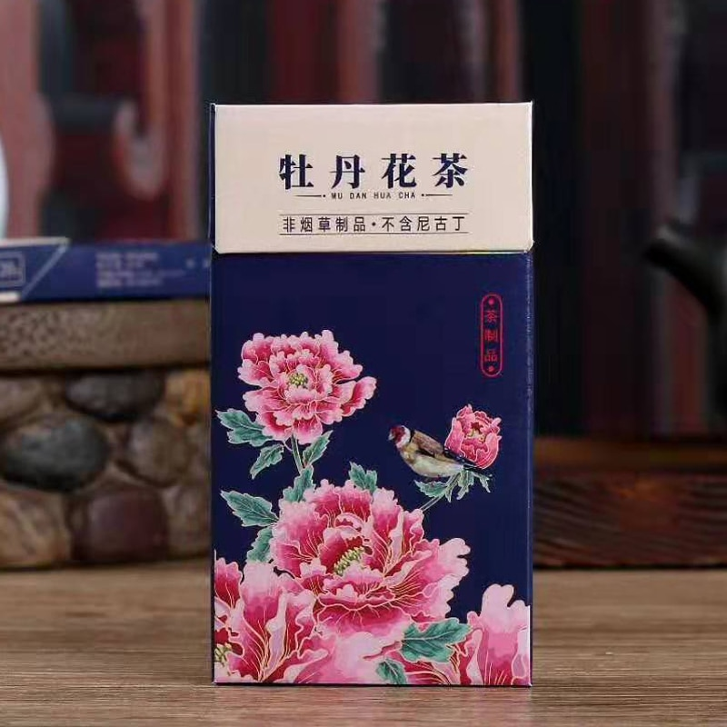 Chinese Peony herbal Tobacco Tea Slim Fine Cigarette tea tobacco smoking to Quit Smoking Clear Lung No Tobacco No Nicotine the herbal smoke(tobacco free cigarette taste good to quit smoking 100% nicotine free free shipping