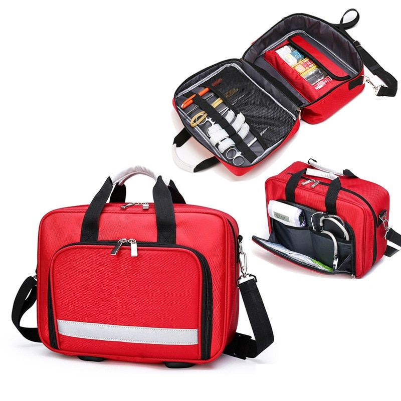 First Aid Kit For Camping Equipment Empty Bag Medicine Medical Supplies Waterproof Multifunctional Travel Set Emergency Survival