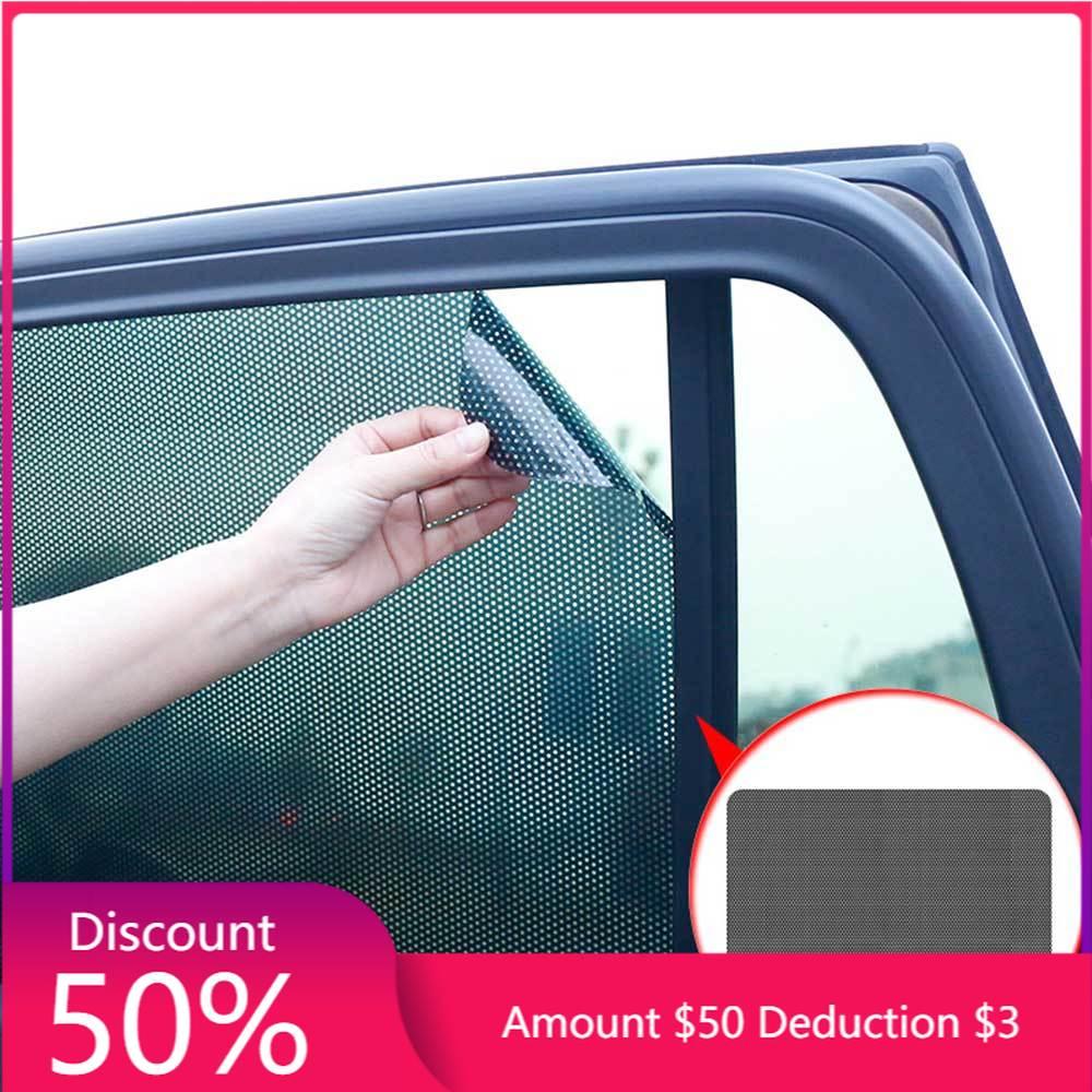 2pcs Car Window Sunshade PVC Protection Electrostatic Sticker Sunscreen Film Stickers Cover Car Sunroof Window Film 0 5 3m 0 75m 3m car window foils front window solar protection foils car protection sticker window tinting film