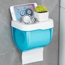 Toallero de papel higiénico para baño, soporte de plástico para WC, con estante de almacenamiento, caja de almacenamiento