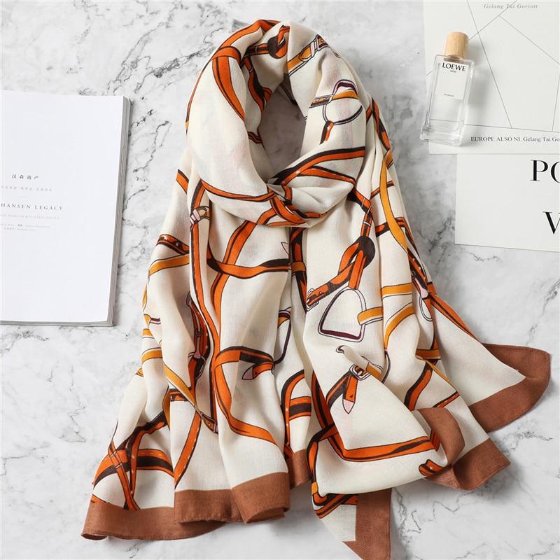 Әйелдер шарфы, сәнді мақта, көктемгі - Киімге арналған аксессуарлар - фото 5