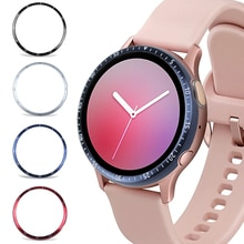 Metal Cover Voor Samsung Galaxy Horloge 42 Mm Actieve 2 44 Mm 40 Mm Case Lijm Bezel Cover Band Strap accessoires Active2 40 44 42