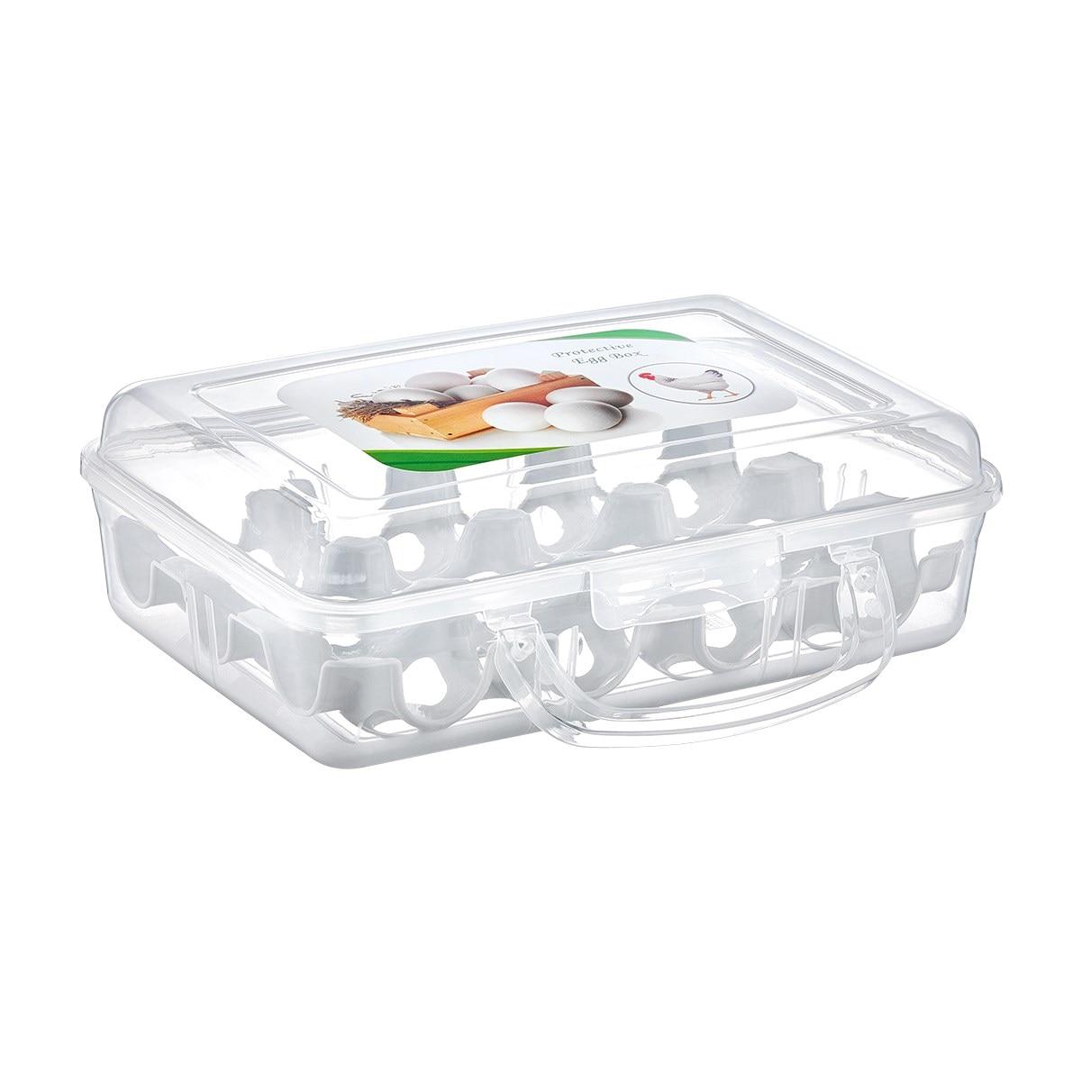 Bolsa de transporte de huevos con asa de plástico Juego de 2 huevos