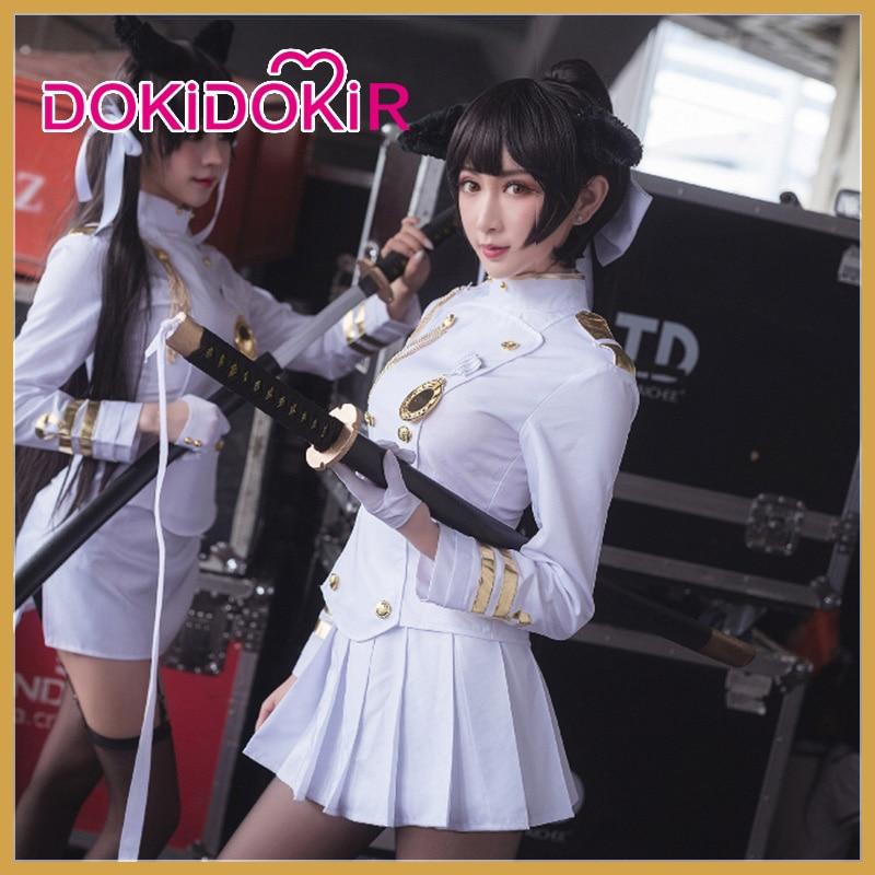 Dokidoki-r juego Azur Lane IJN Takao Cosplay mujeres trajes blancos traje de Halloween Azur Lane IJN Takao Cosplay