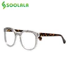 SOOLALA 스퀘어 클래식 패턴 독서 안경 여성 남성 Presbyopic Reader 독서 용 안경 0.5 0.75 1.0 1.25 1.5 1.75