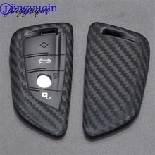 Jingyuqin Key Case Cover Fibler Siliconen Voor Bmw X1 X3 X4 X5 X6 F15 F16 F48 G30 G38 525 540 740 1 2 5 7 Serie 218i Case