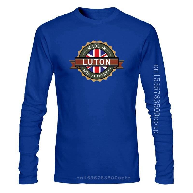 Hecho en LUTON Mens T-Shirt-La ciudad/ciudad-13 camiseta de colores con dibujo hombre...