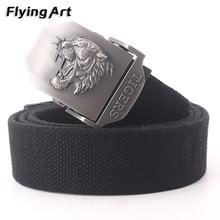 Men&Women Canvas belt Fashion Men Free tiger High Quality military men belt Army tactical belts for
