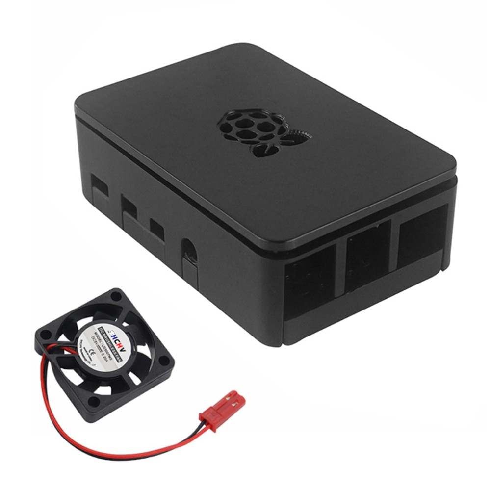 Plastic Case Box Enclosure Shell with Cooler Heat Sink Kit for Raspberry Pi 4B Cooler Heat Sink Shell Accessories uk rs raspberry pi 3 kit russian spanish english mini keyboard 16g sd card 2 5a power supply case heat sink hdmi cable