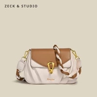 color contrast small pu leather crossbody bags for women 2021 simple trends designer fashion lock shoulder handbags and purses