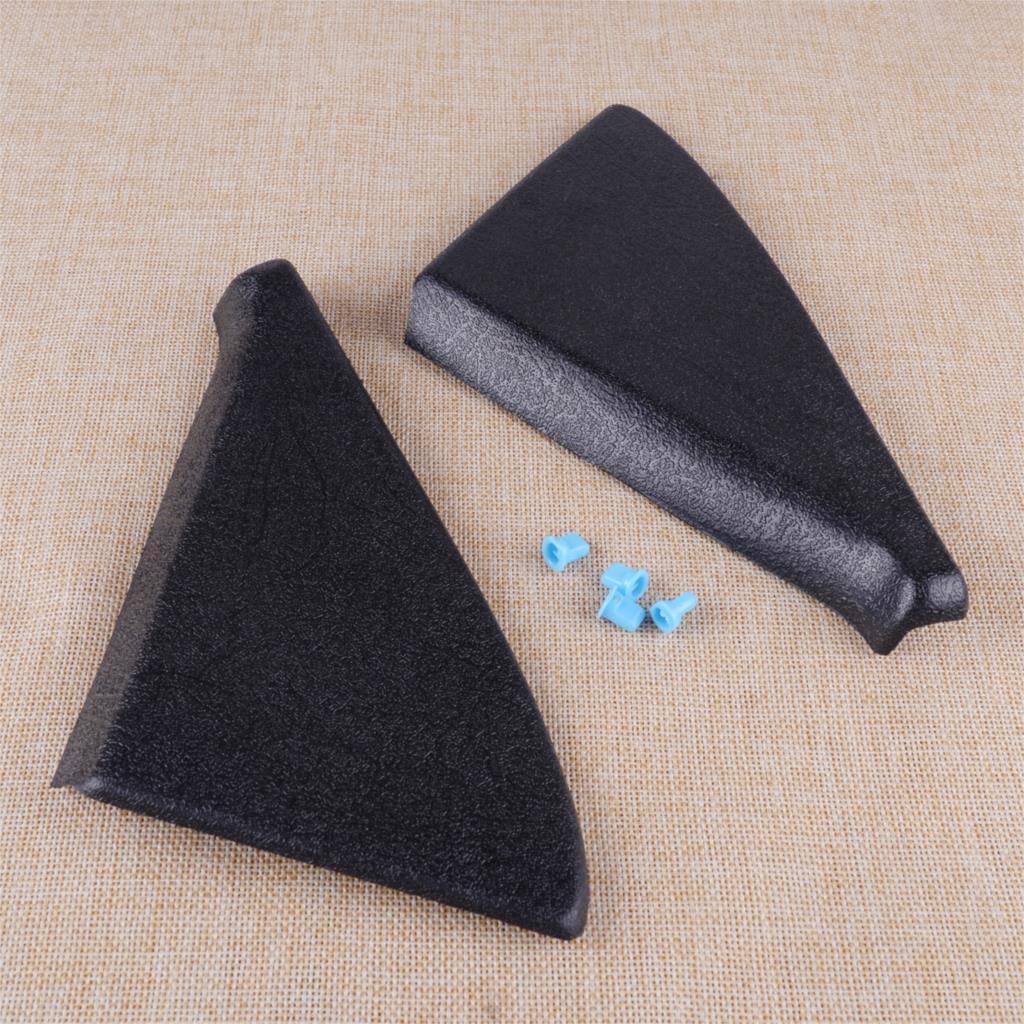 DWCX negro ABS par puerta espejo cubierta ajuste Panel montaje triángulo con Clips 191837993 191837994 ajuste para VW Golf Jetta GTI Gli MK2