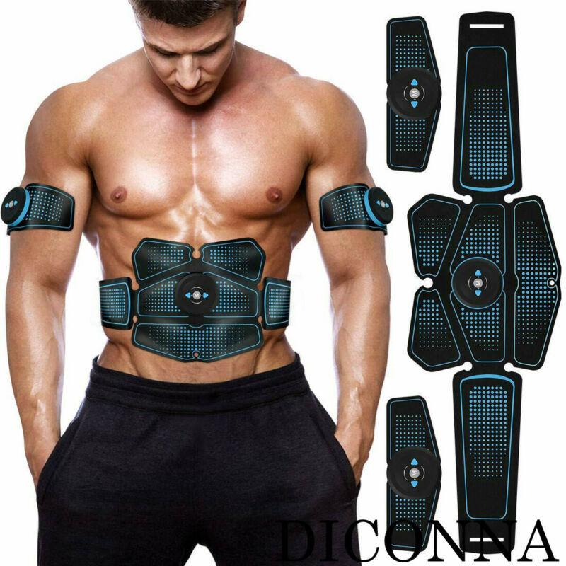 ¡Tendencia de 2020! Máquina Muscular Eléctrica Unisex para hombres y mujeres, cinturón de tonificación inalámbrico, seis paquetes de rodillos para quemar grasa Abs, bandas para el vientre