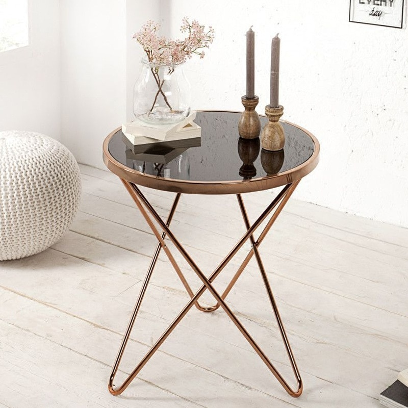 Small round tea table for modern wind home