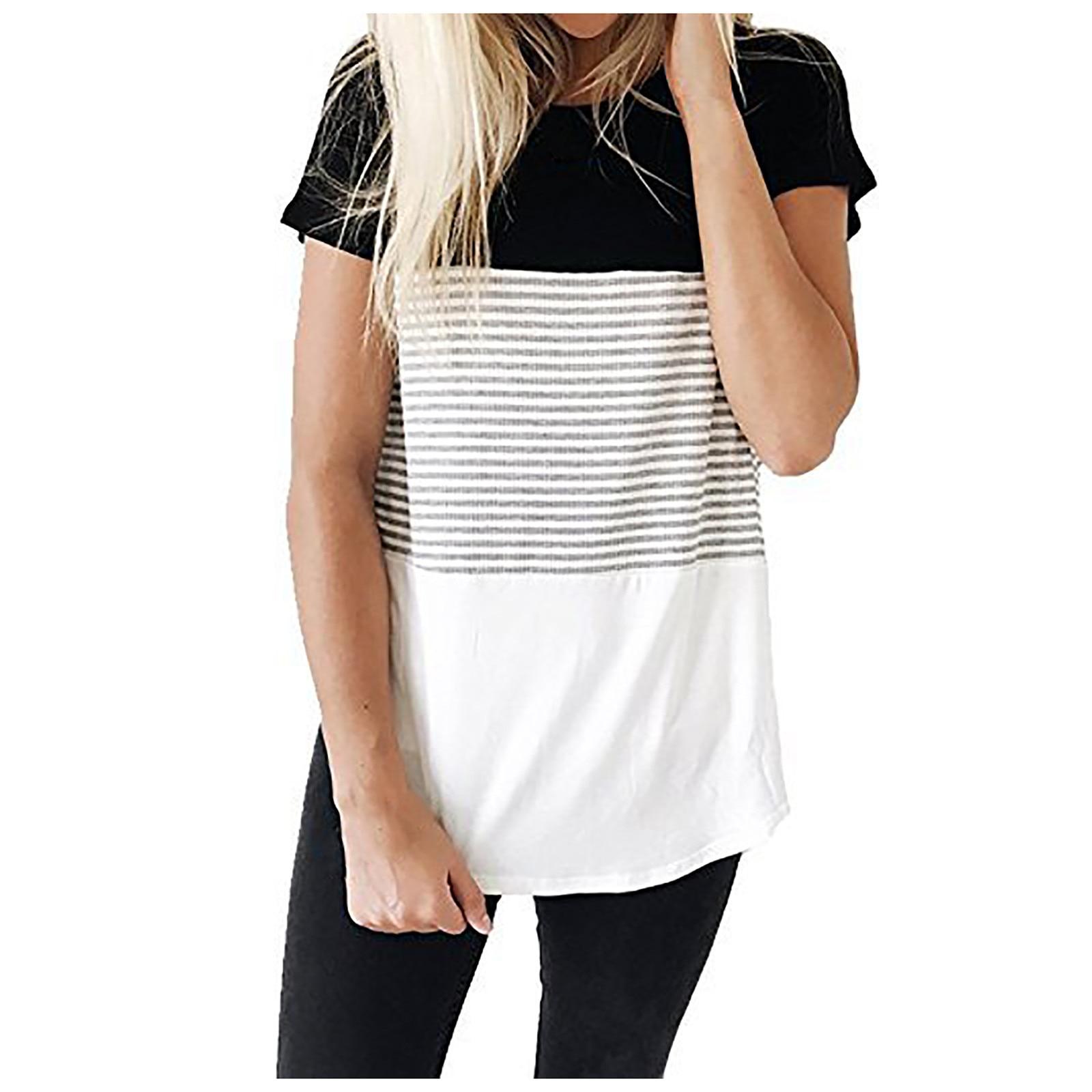 Camiseta de maternidad a la moda para mujer, Camiseta de algodón de...