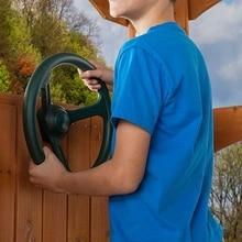 스티어링 휠 어 테치먼트 놀이터 스윙 세트 액세서리 교체 (녹색)