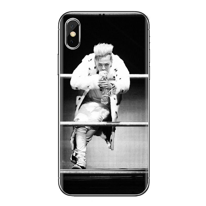 Para Xiaomi Mi4 Mi5 Mi5S Mi6 Mi A1 A2 5X 6X 8 9 Lite SE Pro Mi Max Mix 2 3 2S K-POP Bigbang G-Dragon transparente funda de carcasa blanda