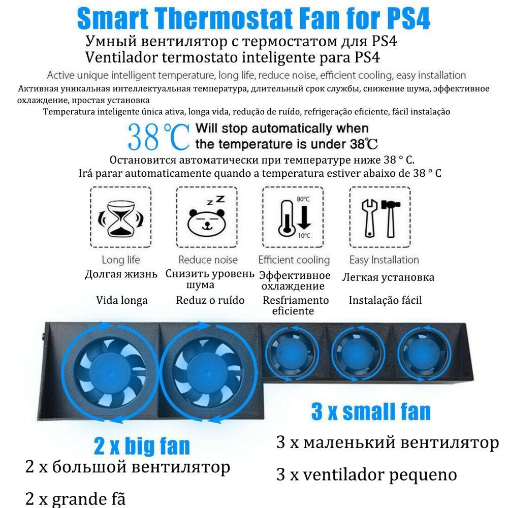 Base de soporte para Sony PS Play Station 4 PS4 Pro, ventilador...