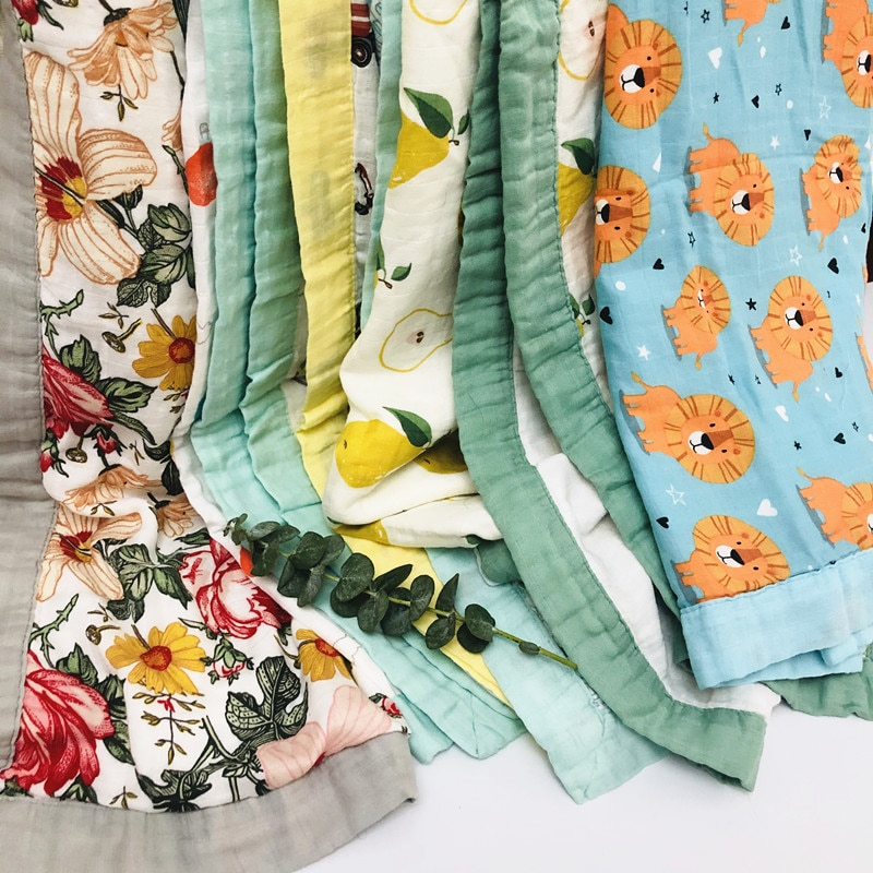 type new four layer bamboo baby muslin blanket Muslin Tree baby swaddle better than Aden Anais Baby/bamboo Blanket Infant Wrap