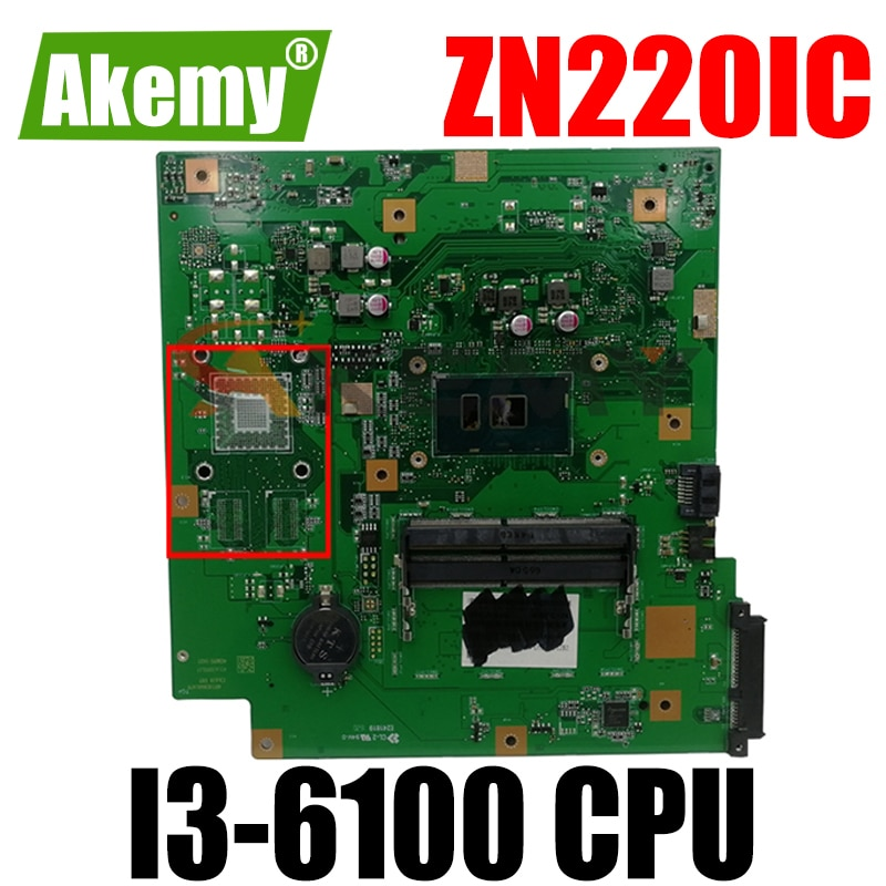 ZN220IC مع I3-6100 وحدة المعالجة المركزية الكل في واحد اللوحة الرئيسية ل ASUS ZN220IC سطح المكتب اللوحة 90PT01N0-R03000 100% اختبار شحن مجاني