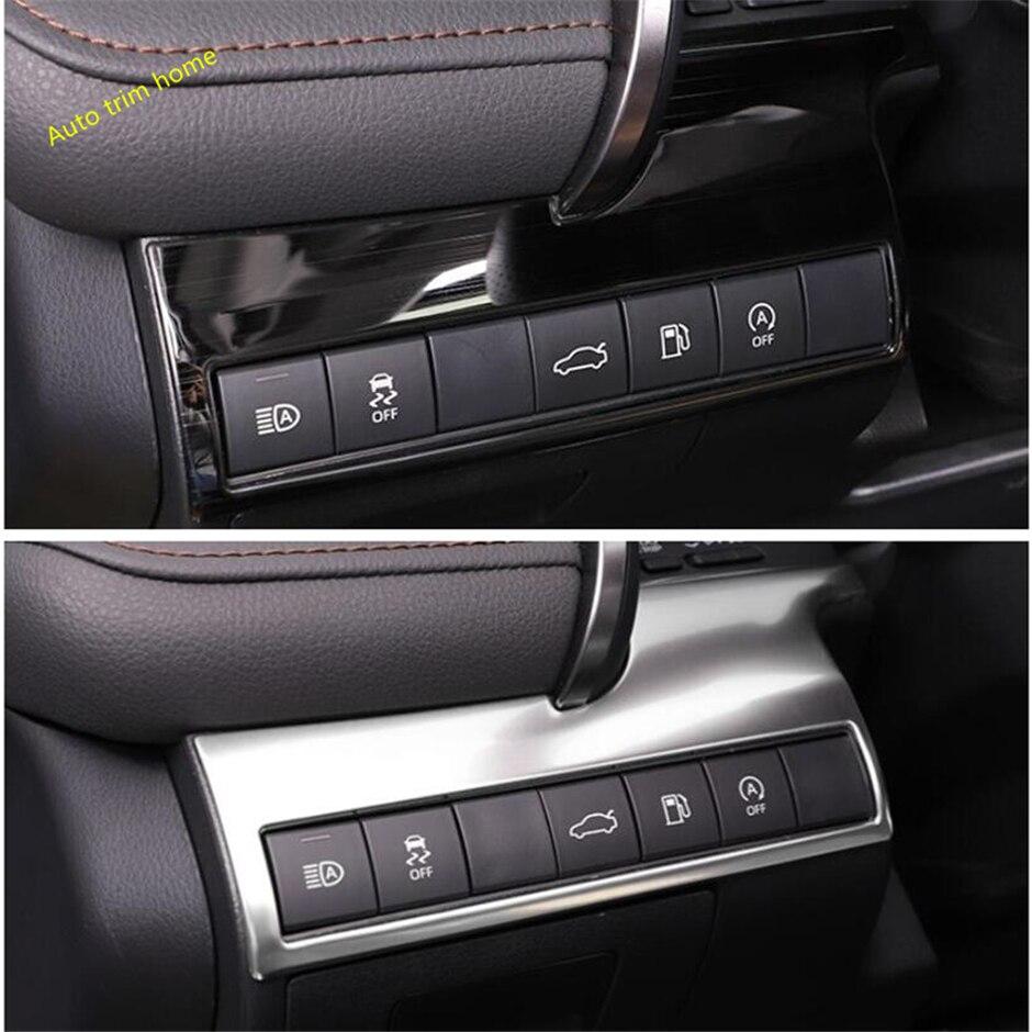 Lapetus faros delanteros interruptor de la lámpara cubierta del botón Ajuste para Toyota Camry 2018-2020 Kit Interior de color azul plateado negro cepillado