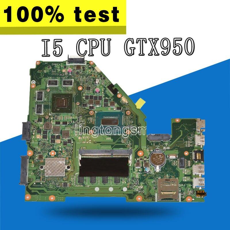 X550JX placa base I5 CPU GTX950 para For Asus X550JX X550JD ZX50J FX50J A550J placa base de computadora portátil X550JX placa base X550JX placa base