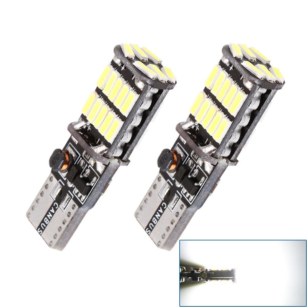 2PCS  W5W T10 LED Canbus 5w5 501 194 LED Car Light No Error 26SMD Automobile Interior Light Instrument Auto Lamp White 12V 6000K