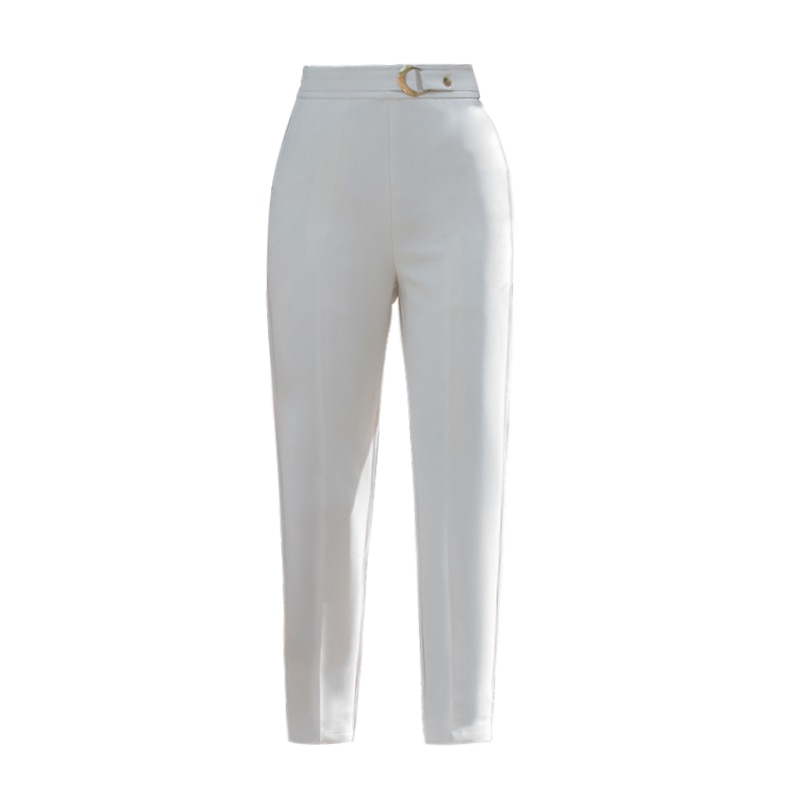 Spring and Trousers Female Cropped Straight Pants Children Loose Autumn 2021 New Style Stylish Beige