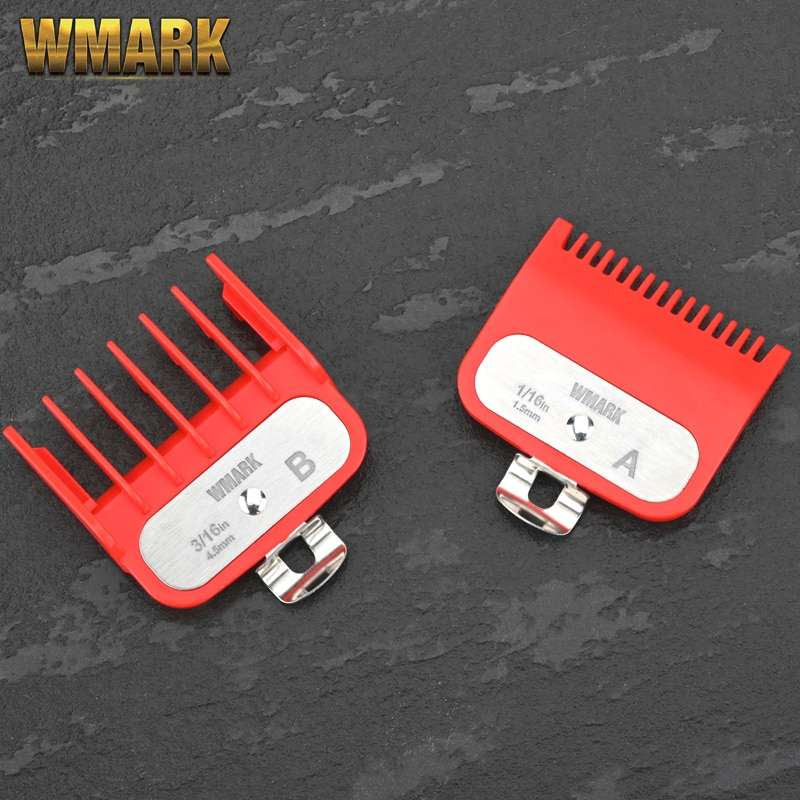 WMARK G-2 Guide comb sets 1.5 and 4.5 mm size red color attachment comb set with a metal holder For