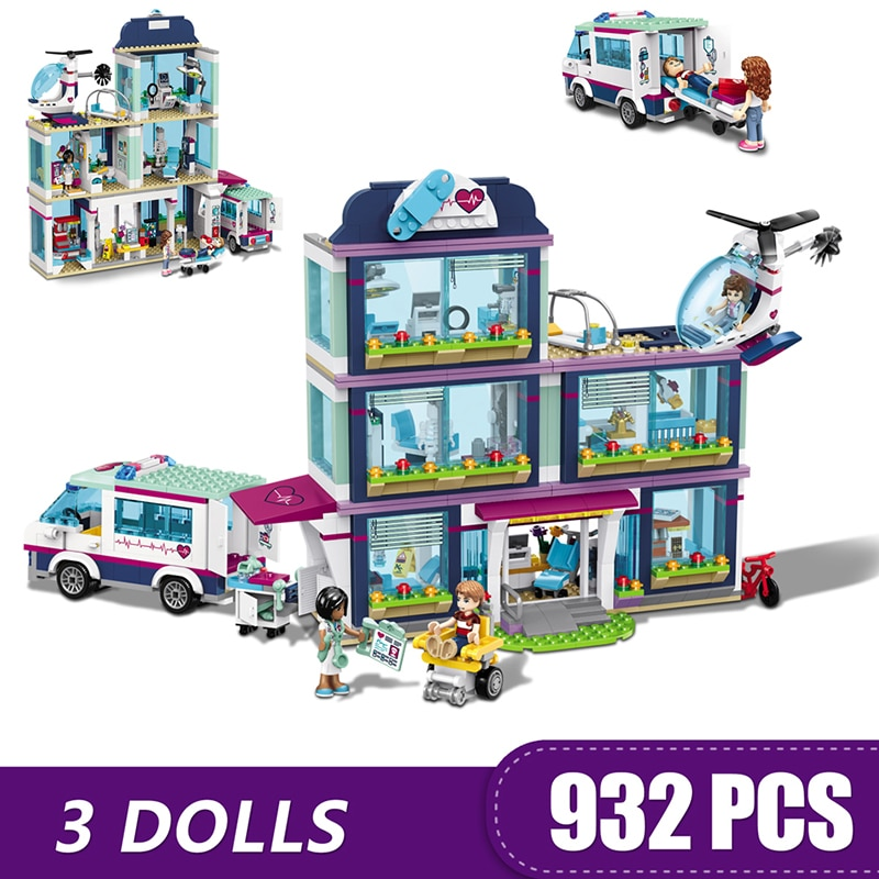 Building Blocks Compatible Lepinging Friends Heartlake City Hospital Treehouse Friendship Club Resort Bricks Toys for girls Gift