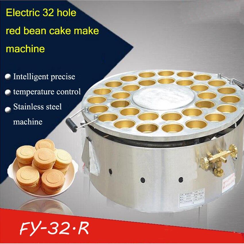 1 قطعة 32 حفرة الغاز نوع ماكينة عمل الكيك عجلة كعكة آلة كعكة صغيرة ماشين سنك الغذاء آلة سطح غير عصا الطبخ