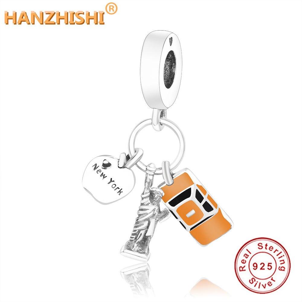 2020 herbst Sammlung Fit Original Europäischen Charme Armband 925 Sterling Silber New York Baumeln Charme Perlen Schmuck berloque