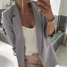 Womens Elegant Blazer Ladies Office Work Business Outwear New Women Long Sleeve Blazer Plus Size Sui
