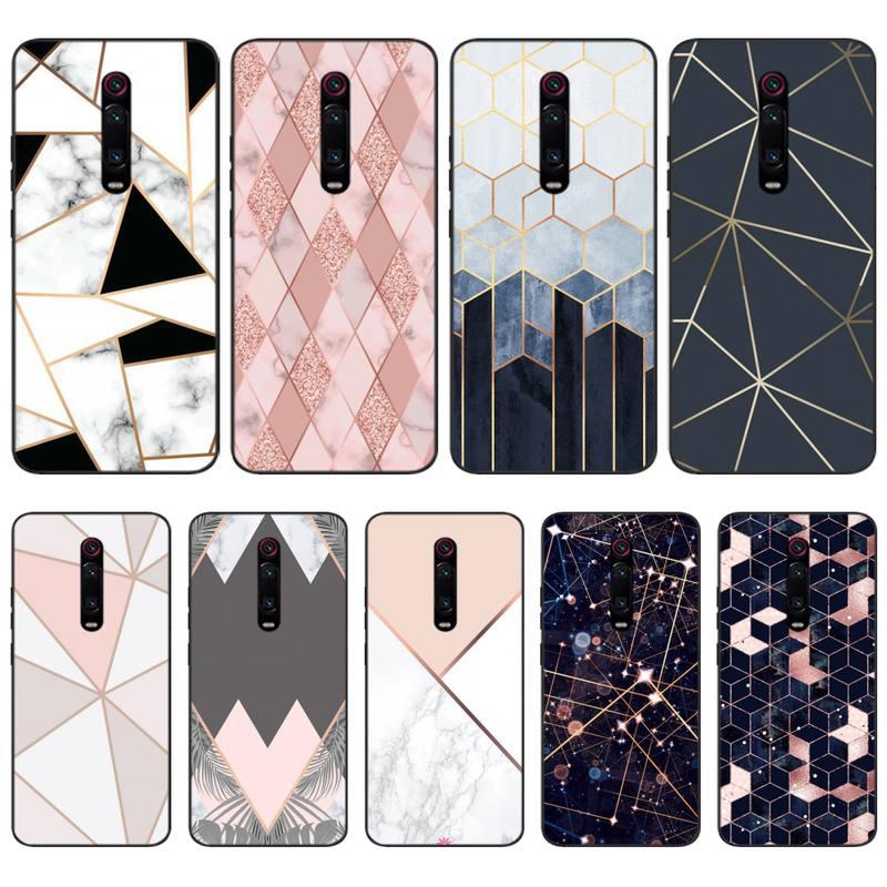Mármore Jemy Chapeamento Geométrica Impressão DIY Phone Case capa Shell Para Redmi 6 4X 7 7A 8 IR K20 Nota 4 4X 5 5A 6 6 Pro 7 8 8pro