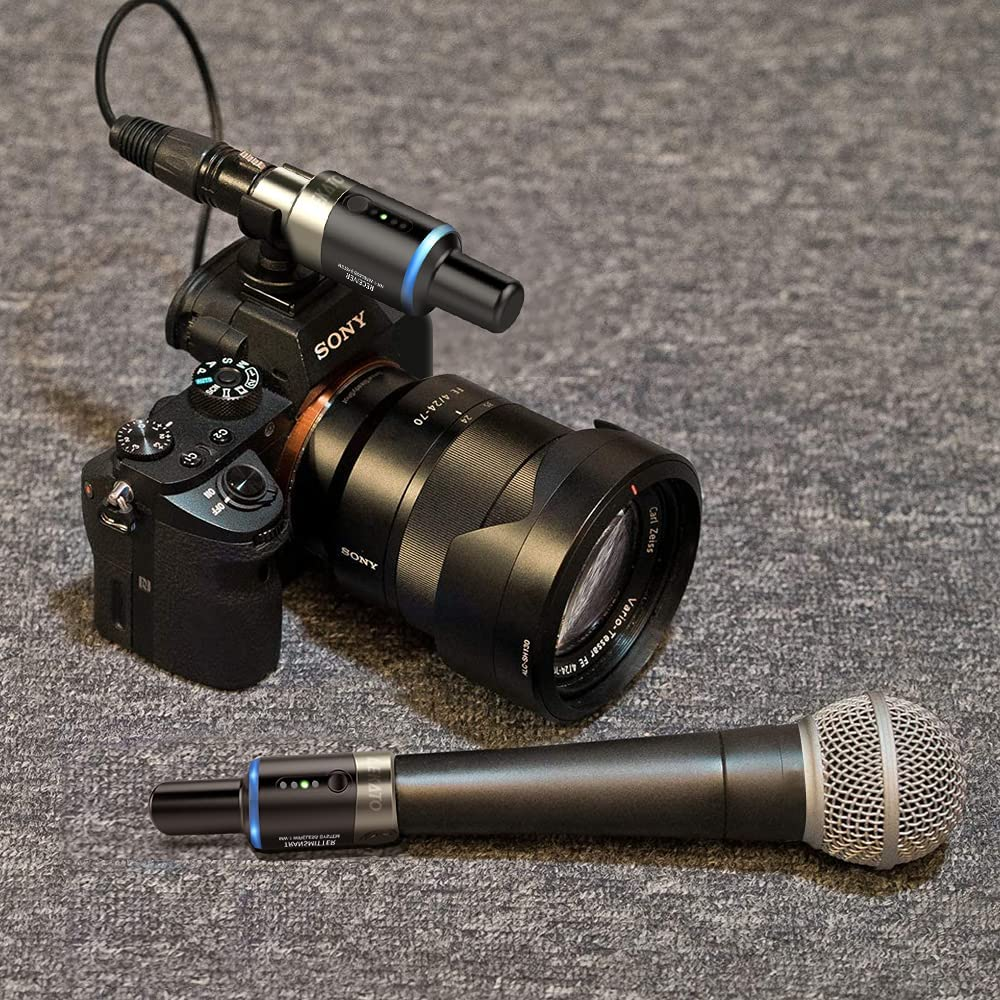 LEKATO MW-1 5.8GHz Wireless Microphone System Automatic Wireless Transmitter Receiver Plug On XLR For Effector Dynamic enlarge