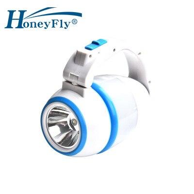 HoneyFly-Lámpara LED portátil, luz de mesa LED de noche, con carga USB, multifuncional, para exteriores, Camping, senderismo y Pesca