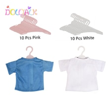 10pcs/lot American Doll Clothes Multicolor Hangers For 43 - 45 Cm New Baby Born Dolls For Our Genera