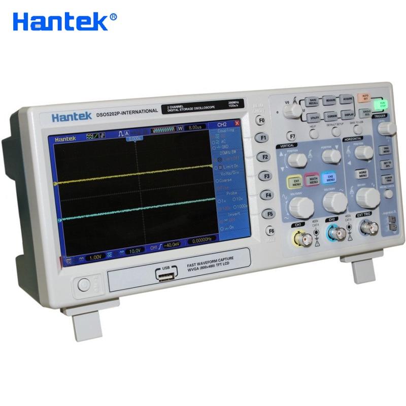 Oscilloscope numérique Hantek DSO5202P bande passante 200MHz 2 canaux 1GSa/s 7 pouces