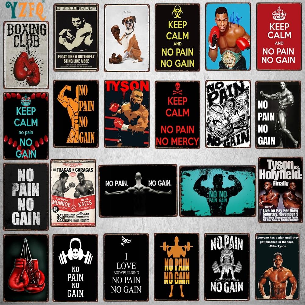 Cartel de Metal de lata para deportes de Fitness, clásico, para pared, Pub, restaurante, decoración de arte para el hogar, cartel de hierro, FB-0143B