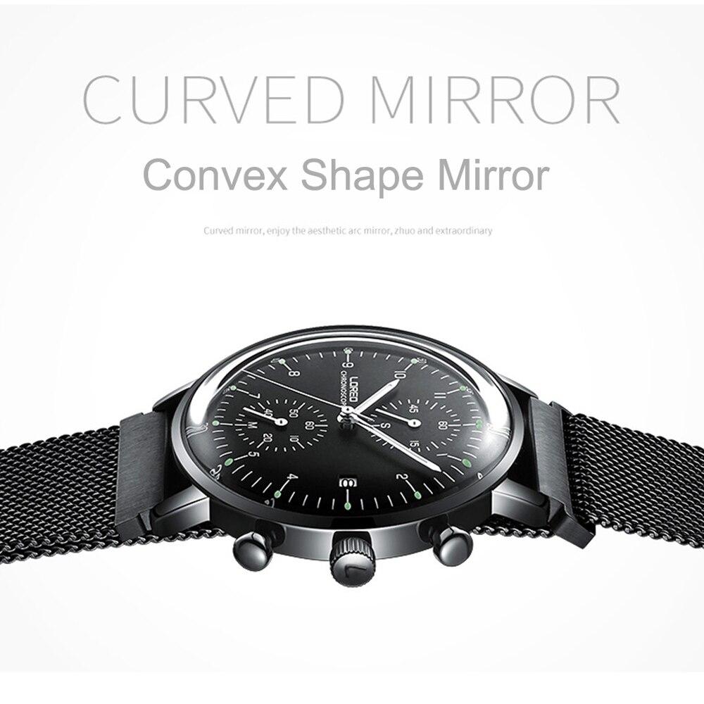 LOREO Mens Watches Top Brand Luxury Business Stainless Steel Quartz Watch Men Sport Waterproof Wristwatch Relogio Masculino 6112 enlarge