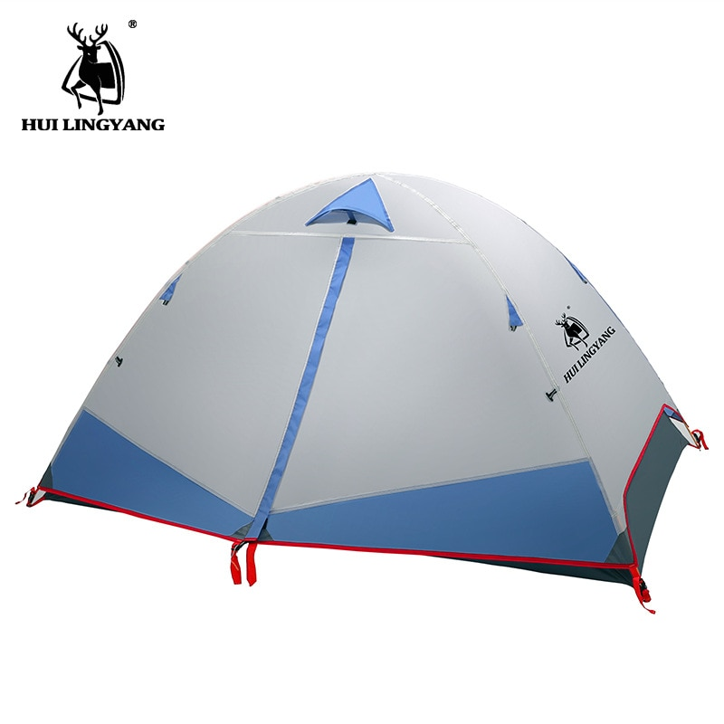 Sunnday 3 People Backpacking Tent Outdoor Camping 4 Season Tent With Snow Skirt Double Layer Waterproof Hiking Tent