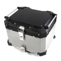36l aluminum alloy tail box quick release anti fall universal trunk travel equipment electric vehicle motorcycle storage box