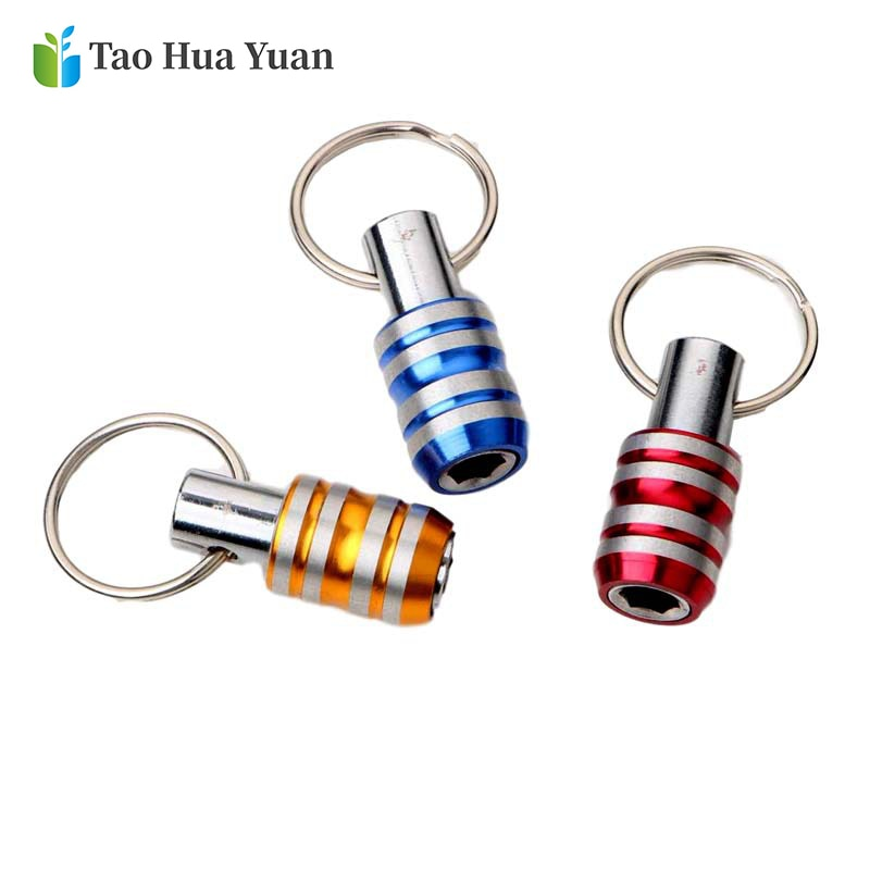 1 4 screwdriver bit hex shank screwdriver bits keychain holder extension bar drill screw adapter power tool supplies 5pcs 1/4 Hex Shank Screwdriver Bits Holder Extension Bar Drill Screw Adapter Quick Release Easy Change Keychain Drill Batch Head AA