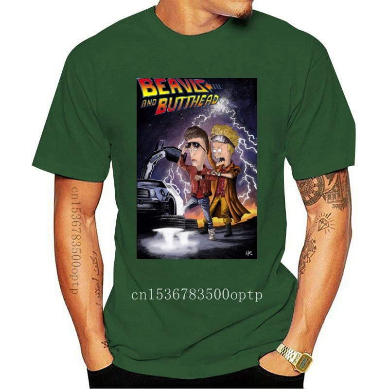 New Beavis And Butt-Head X Back To The Future Combo T-Shirt, Funny Tee Confortable Tee Shirt