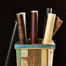 Papier peint autocollant imperméable PVC bois   Autocollant de cuisine auto-adhésif, papier peint pour meubles de garde-robe en rénovation